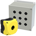 Push Button Enclosures, 1-16 Holes, Carbon Steel, Stainless Steel, ABS, Polycarbonate, Thermoplastic, NEMA 4, 4X & 12 at asi-ez.com