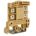ASI tab-connection terminal blocks mount onto a DIN rail and conveniently accept industry standard .250 inch push-on tabs, such as Fastons