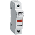 ASI offers Midget, Class CC and Solar Fuse Holders and Blocks which mount on DIN rail, available in 1, 2 & 3 poles, with & without blown fuse indication.