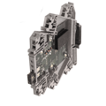 Shop with ASI for your control & automation supplies! These DIN terminal blocks with a PLC interface are fixed single or dual units mounted inside CK housing.