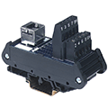 ASI DIN Rail mounted interface modules are din rail mounted terminal block breakout boards for AC outlet, ethernet/RJ, D-sub, IDC connections. Shop for DIN rail mounted wire-to-connector interface modules here.