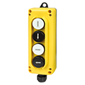 Lift Platform Push Button Station with Up-Down Pendant Control and emergency stop push buttons at asi-ez.com