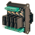 ASI has DIN rail mounted 4, 8 and 16 Channel Relay Module for 24Vdc, 24 Vac/dc, 110Vac/dc, 230Vac coils, SSR, SPST, SPDT, DPDT Relays.