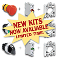Shop online at ASI for your Industrial Push Button, E-stop & Selector Switch Kits.