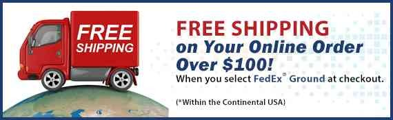 ASI offers Free Ground Shipping on Orders Over $100.Click for Details